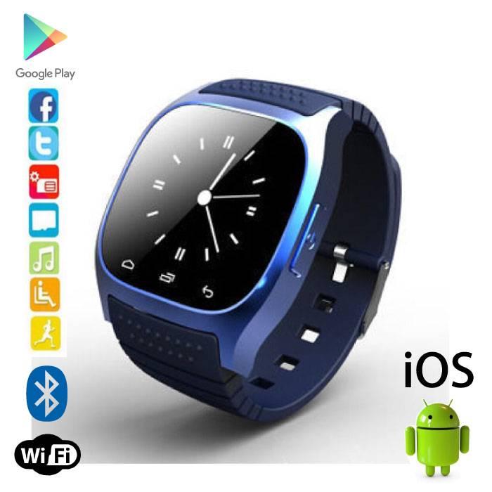 Originele M26 Smartwatch Smartphone Horloge OLED Android iOS Blauw