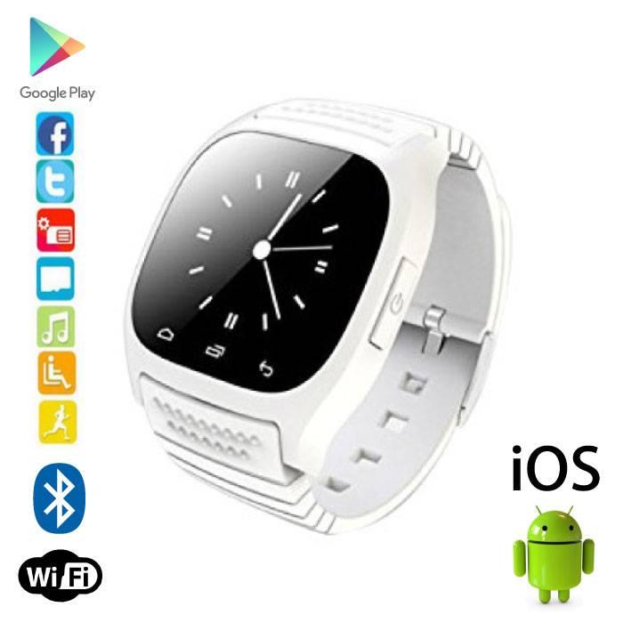Originele M26 Smartwatch Smartphone Horloge OLED Android iOS Wit
