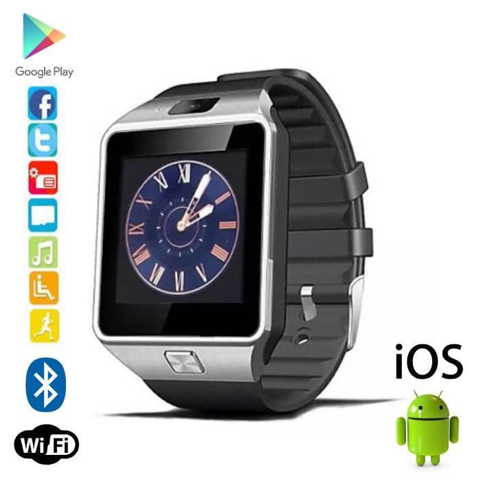 Original DZ09 SmartWatch Android Smartphone Watch OLED iOS Silver