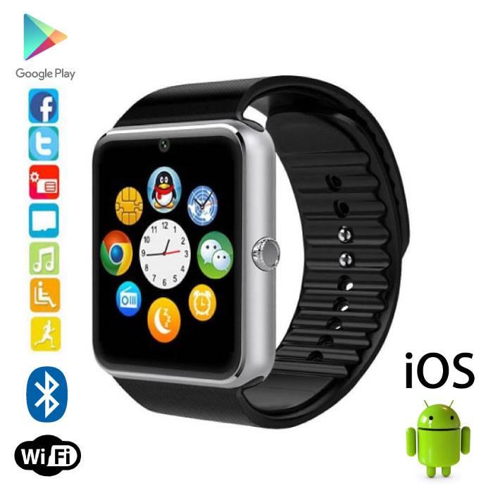 Originele GT08 Smartwatch Smartphone Fitness Sport Activity Tracker Horloge OLED Android iOS Zilver