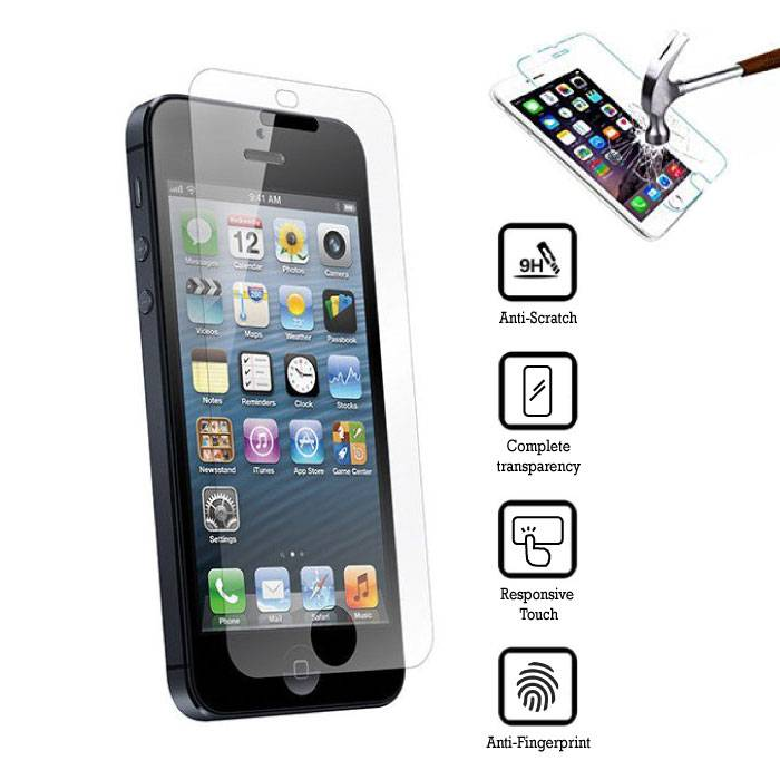 Screen Protector iPhone en verre trempé 5 Films