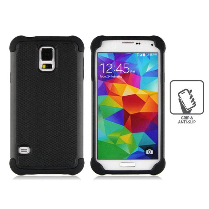 For Samsung Galaxy S3 - Hybrid Armor Case Cover Cas Silicone TPU Case Black
