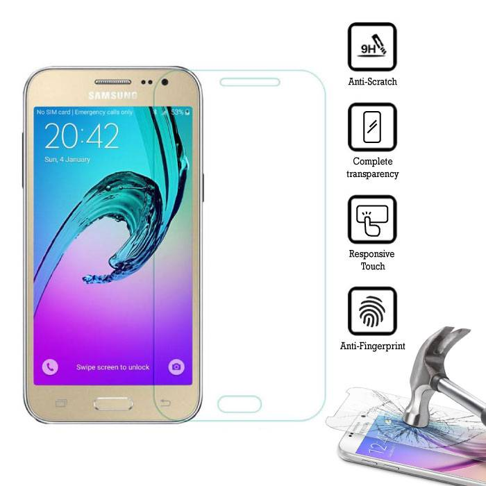 2-Pack Screen Protector Samsung Galaxy J2/J200F/J200G Tempered Glass Film