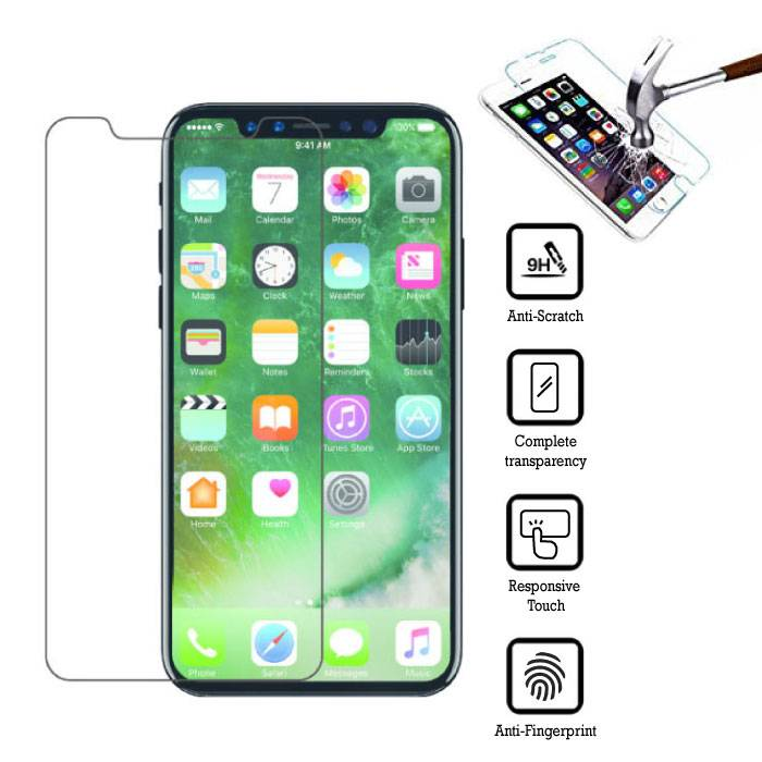 2-Pack Screen Protector iPhone X Tempered Glass Film
