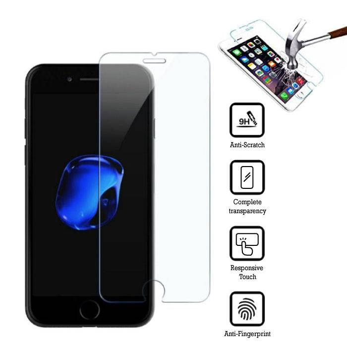 2-Pack Screen Protector iPhone 8 Plus Tempered Glass Film