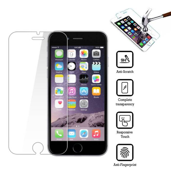 2-Pack Protection d'écran iPhone 6S Film Verre Trempé
