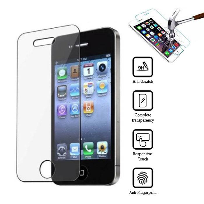 2-Pack Screen Protector iPhone 4 Tempered Glass Film