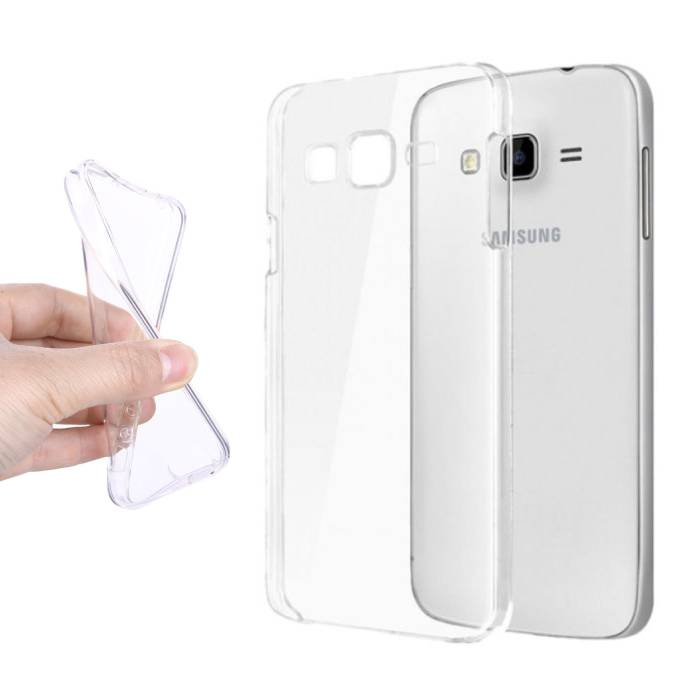 2-Pack Transparant Clear Case Cover Silicone TPU Hoesje Samsung Galaxy J7 Prime 2016