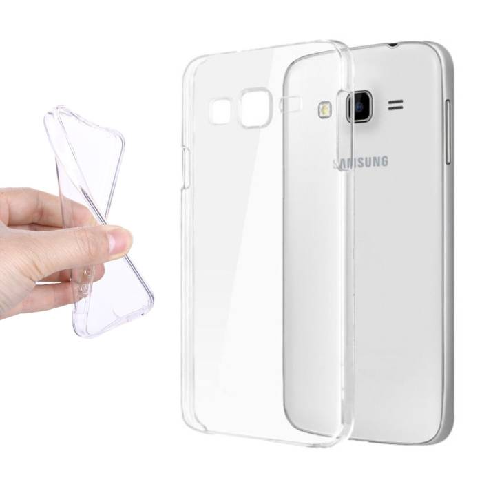 2-Pack transparent en silicone transparent de couverture de cas TPU Samsung Galaxy J5 Prime 2016