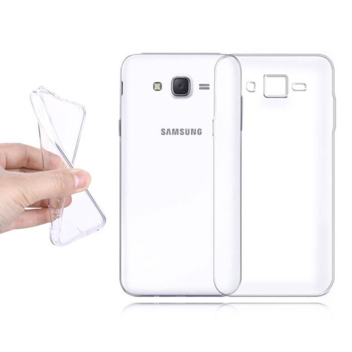 2-Pack Transparent Clear Silicone Case Cover TPU Case Samsung Galaxy J2/J200F/J200G