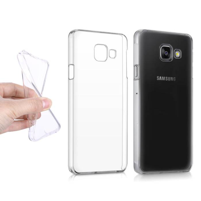 2-Pack Transparent Clear Case Cover Silicone TPU Samsung Galaxy A3 2016