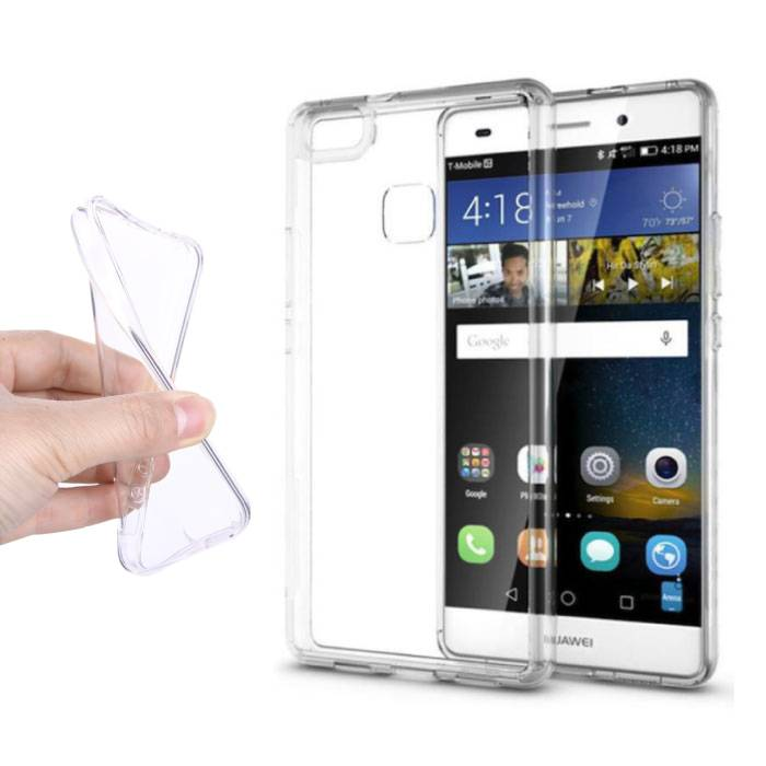 2-Pack Transparent Clear Case Cover Silicone TPU Case Huawei P8