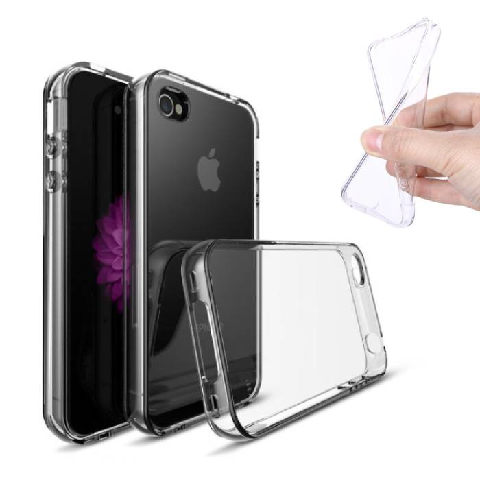 2-Pack Transparent Clear Case Cover Silicone TPU Case iPhone 4S