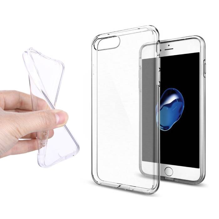 2-Pack Transparent Clear Silicone Case Cover TPU Case iPhone 7 Plus