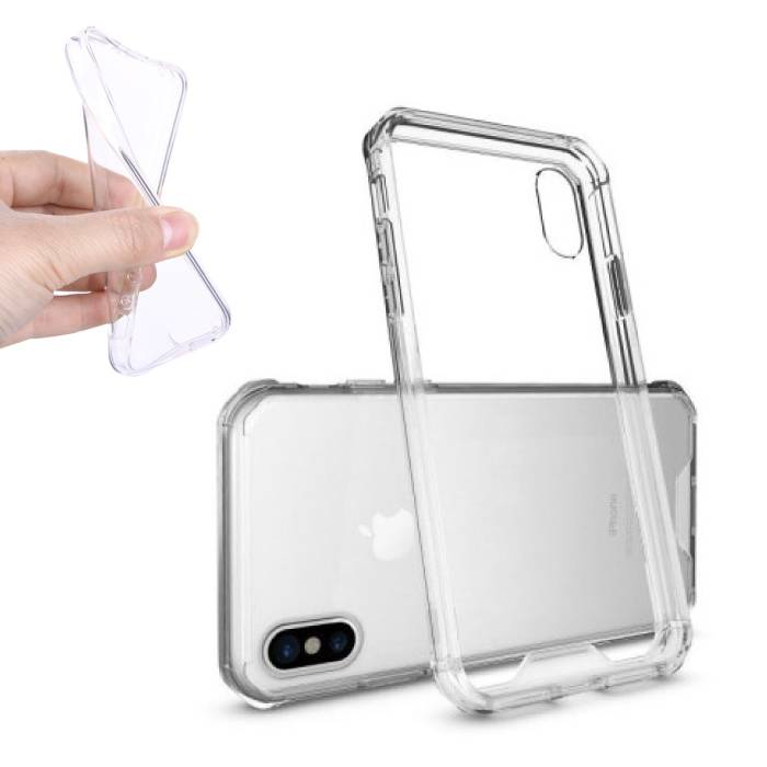 2-Pack Transparent Clear Silicone Case Cover TPU Case iPhone X