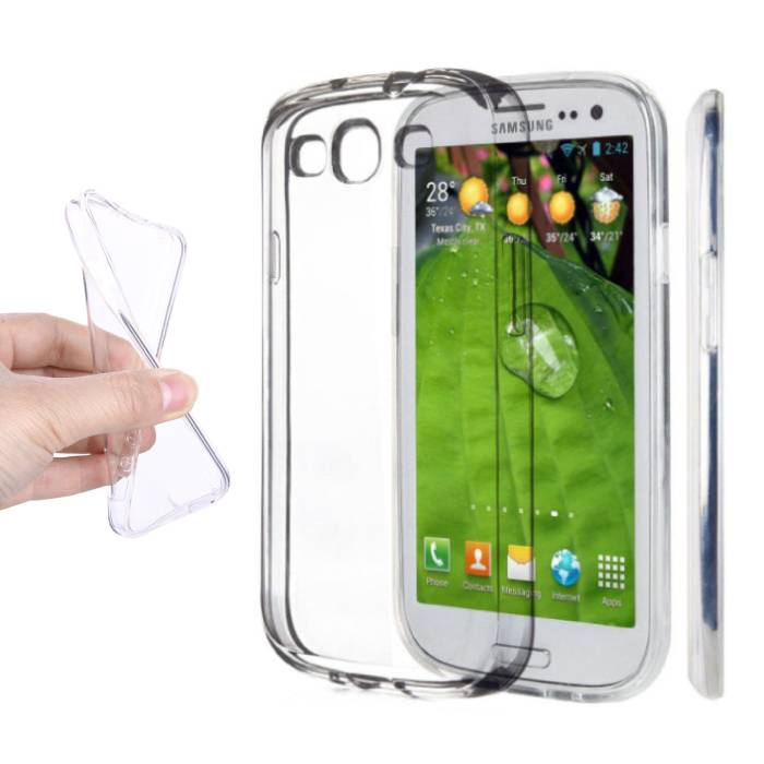 2-Pack transparent en silicone transparent de couverture de cas TPU Samsung Galaxy S3