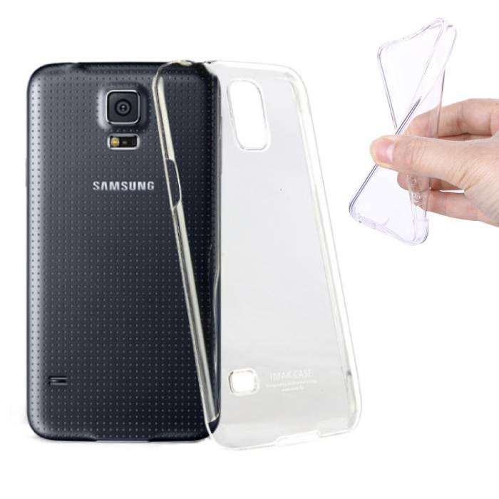 2-Pack Transparent Clear Silicone Case Cover TPU Case Samsung Galaxy S5