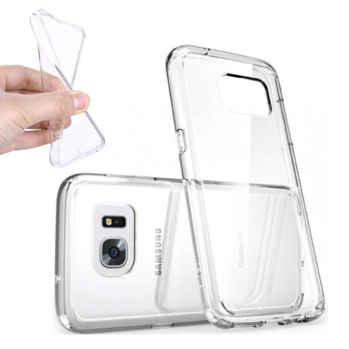 2-Pack Transparent Housse en silicone couverture TPU Samsung Galaxy S6