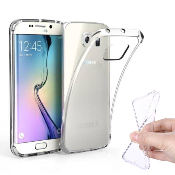 2-Pack Transparant Clear Case Cover Silicone TPU Hoesje Samsung Galaxy S6 Edge