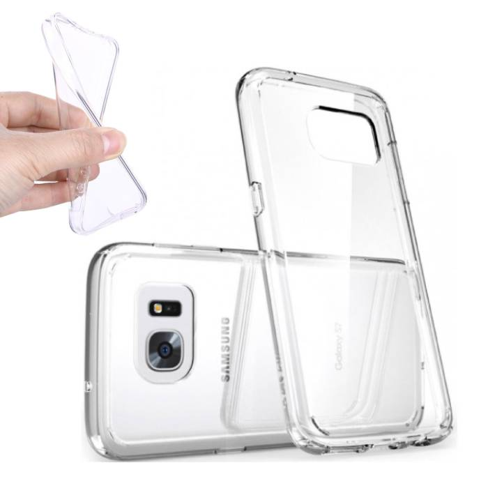2-Pack Transparent Housse en silicone couverture TPU Samsung Galaxy S7