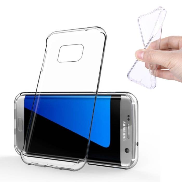 2-Pack Transparent Clear Silicone Case Cover TPU Case Samsung Galaxy S7 Edge