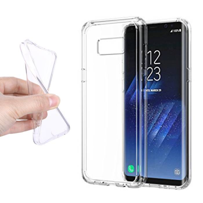 2-Pack transparent en silicone transparent de couverture de cas TPU Samsung Galaxy S8