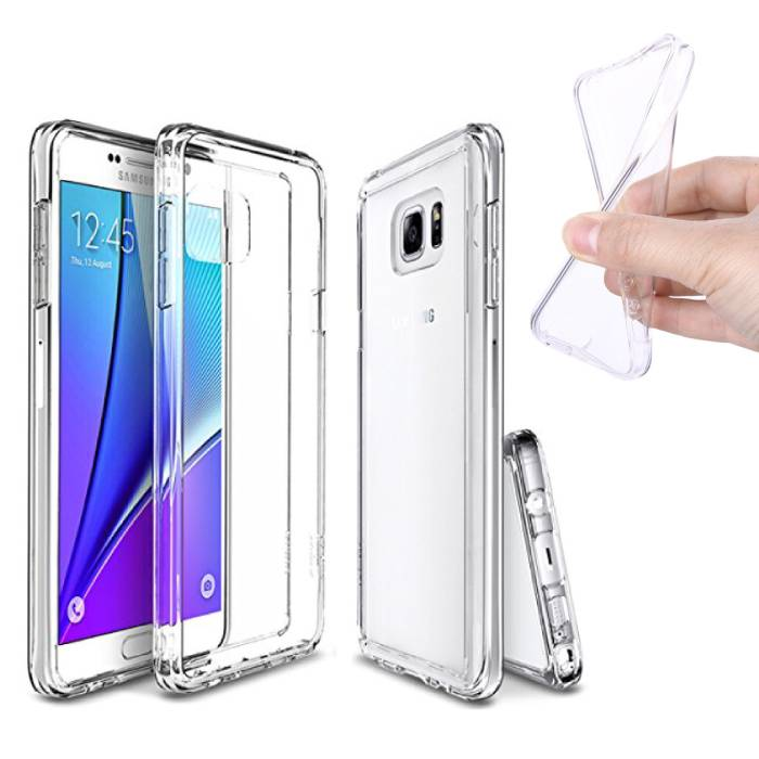 2-Pack Transparent Clear Case Housse en silicone TPU Samsung Galaxy Note 5