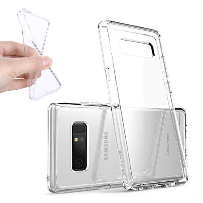 2-Pack Transparent Clear Silicone Case Cover TPU Case Samsung Galaxy Note 8