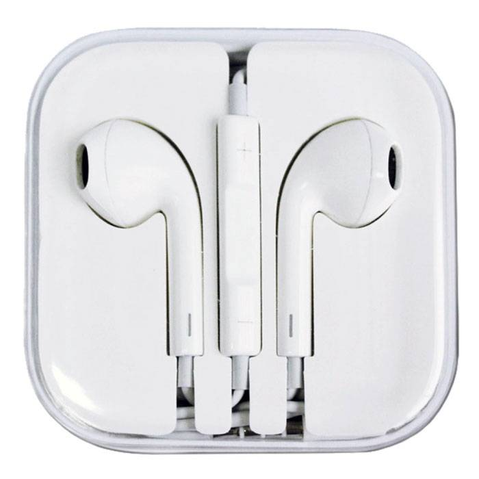 2-Pack iPhone / iPad / iPod In-ear Earphones Earphones Pods Ecouteur White - Clear Sound