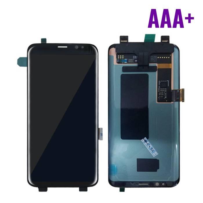 Samsung Galaxy S8 Scherm (Touchscreen + AMOLED + Onderdelen) AAA+ Kwaliteit - Zwart