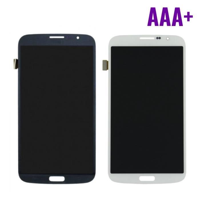 Samsung Galaxy Mega 6.3 i9200/i9205 Scherm (Touchscreen + LCD + Onderdelen) AAA+ Kwaliteit - Zwart/Wit