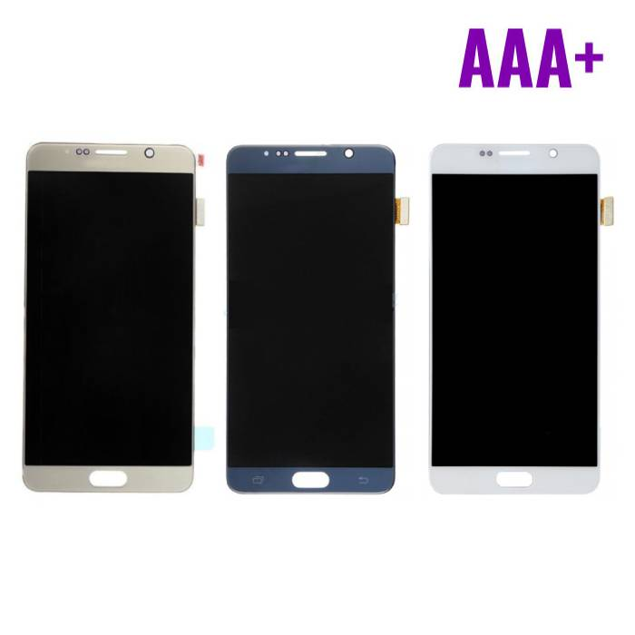 Samsung Galaxy Note N9200 5 / N920A / N920T / N920V / N920P screen (Touchscreen + AMOLED + Parts) AAA + Quality - White / Blue / Gold