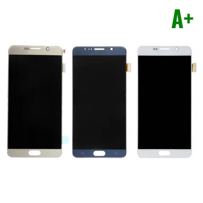 Samsung Galaxy Note N9200 5 / N920A / N920T / N920V / N920P screen (Touchscreen + AMOLED + Parts) A + Quality - White / Blue / Gold