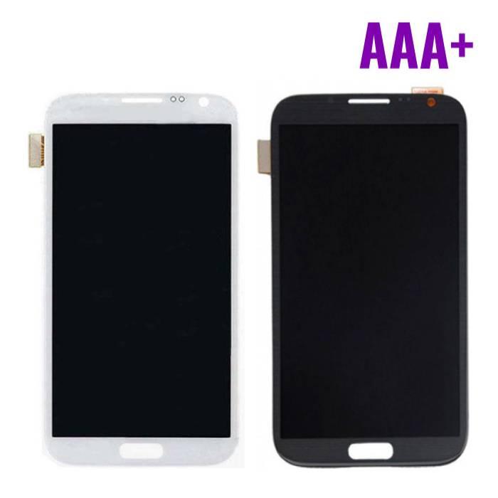 Samsung Galaxy Note 2 N7100 Scherm (Touchscreen + AMOLED + Onderdelen) AAA+ Kwaliteit - Zwart/Wit