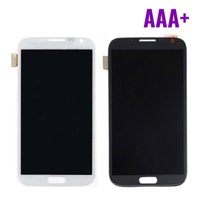 Samsung Galaxy Note 2 N7100 Scherm (Touchscreen + LCD + Onderdelen) AAA+ Kwaliteit - Zwart/Wit