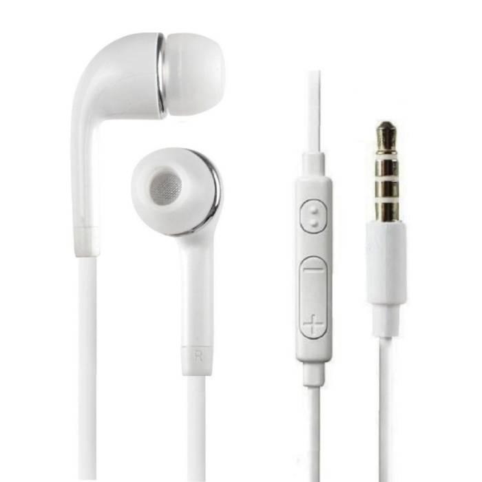 Stuff Certified ® Voor Samsung Galaxy Earphones Oortjes Ecouteur Wit - Helder Geluid