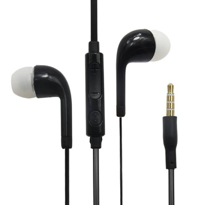 Oreilles écouteurs pour Samsung Galaxy Noir - écouteur LIMPIDE