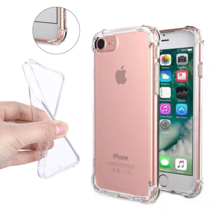 Transparent Clear Bumper Case Cover Silicone TPU Case Anti-Shock iPhone 7 Plus