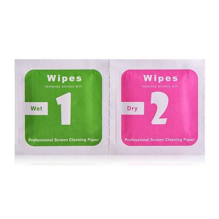 5-Pack 2 in 1 professionelle Reinigungstücher mit Alkohol für Smartphone LCD-Bildschirm