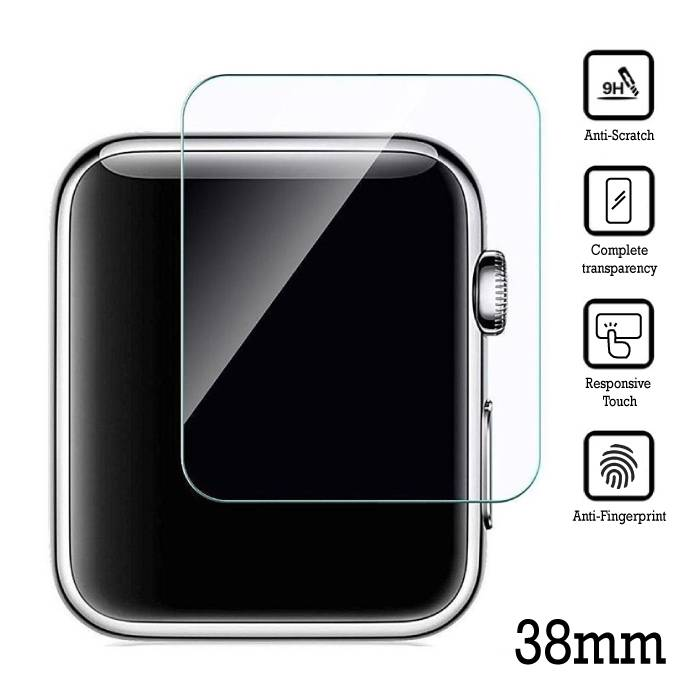 38mm Tempered Glass Clear Screen Protector voor iWatch Series 1 / 2 / 3
