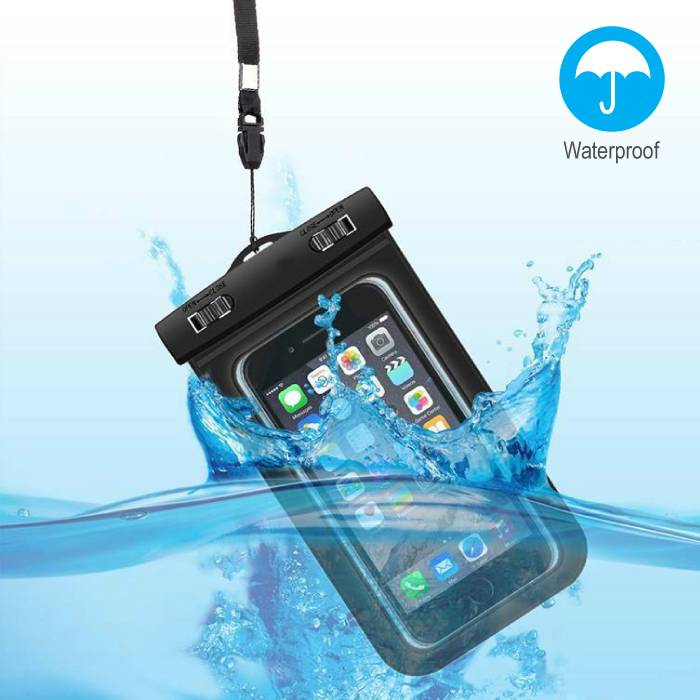 Waterproof Case Pouch Bag Universal iPhone Samsung Huawei Black - Up to 5.8 ""