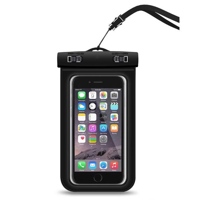 """Etui Etui Etui Etui Etui Universel iPhone Samsung Huawei Noir - Airbag jusqu'à 5,8 """""""