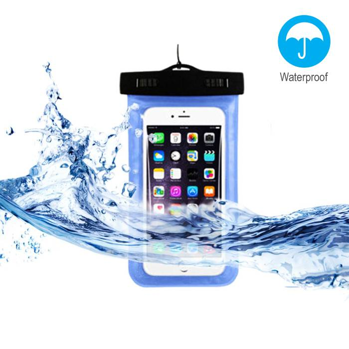 Waterproof Case Pouch Bag Universal iPhone Samsung Huawei Blue - Up to 5.8 ""