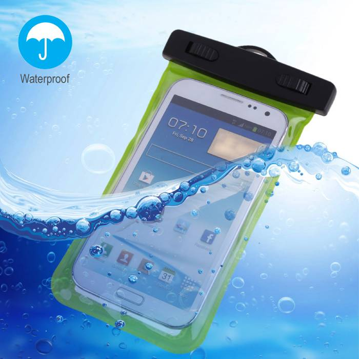 Waterproof Case Pouch Bag Universal iPhone Samsung Huawei Green - Up to 5.8 ""