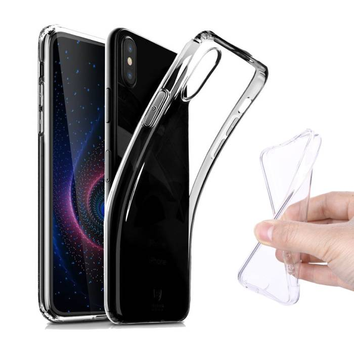 Transparant Clear Case Cover Silicone TPU Hoesje Huawei P20 Lite