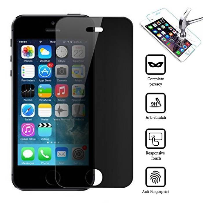 Privacy Screen Protector iPhone 5 Film Verre Trempé
