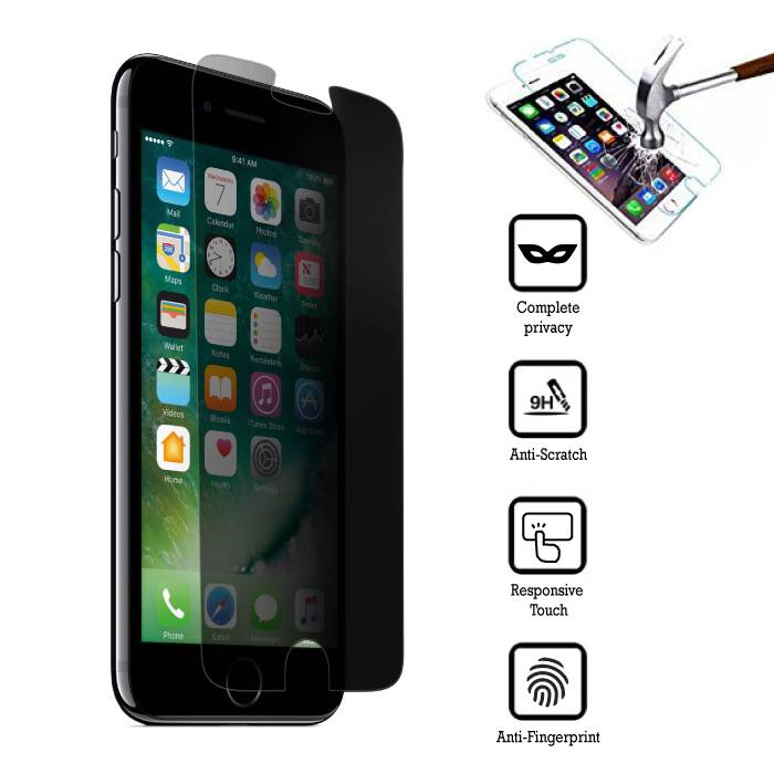 Privacy Screen Protector iPhone 6 Plus Verre Trempé Film