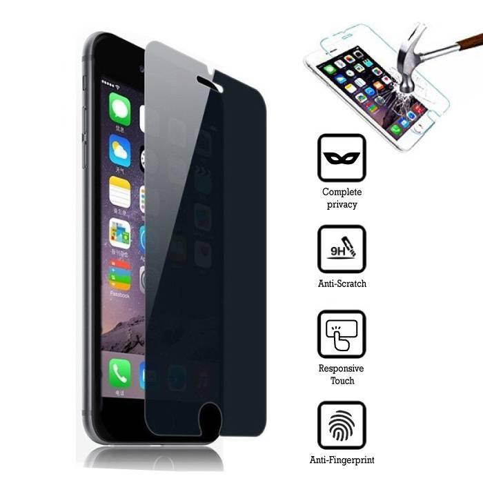 Privacy Screen Protector iPhone 7 De plus en verre trempé Film