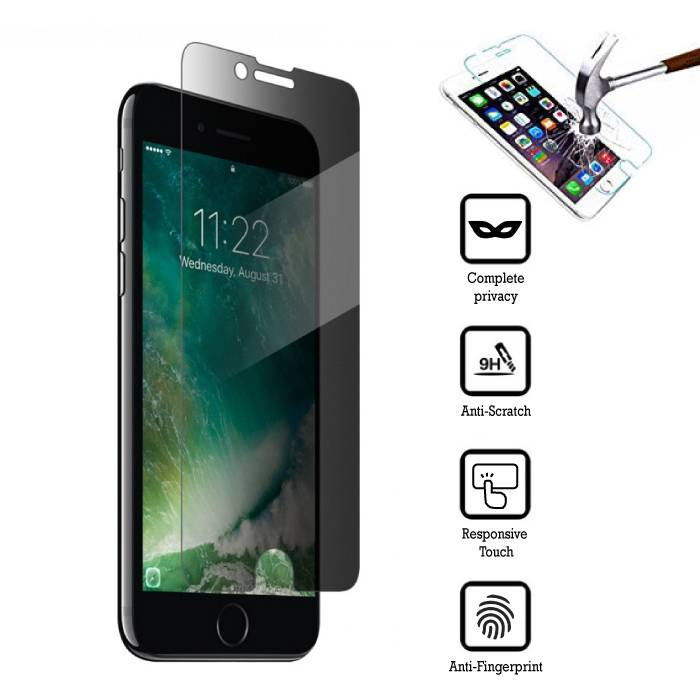 Privacy Screen Protector iPhone 8 Plus Tempered Glass Film