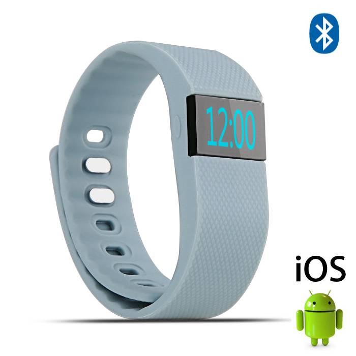 Originele TW64 Smartband Sport Smartwatch Smartphone Horloge OLED iOS Android Grijs